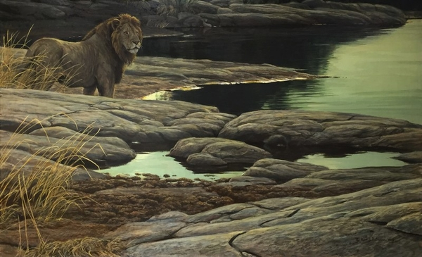 Robert z Bateman Lion At Tsavo