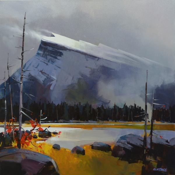 Michael z O'Toole Top Light on Mt. Rundle