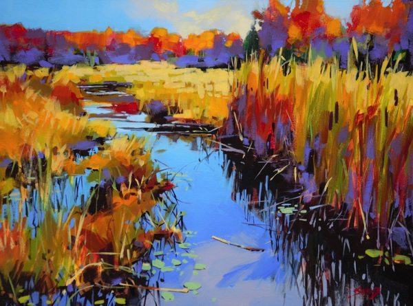 Cattail Marsh by Mike Svob