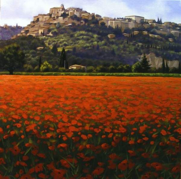 Ray z Ward Poppy Fields Near Gordes