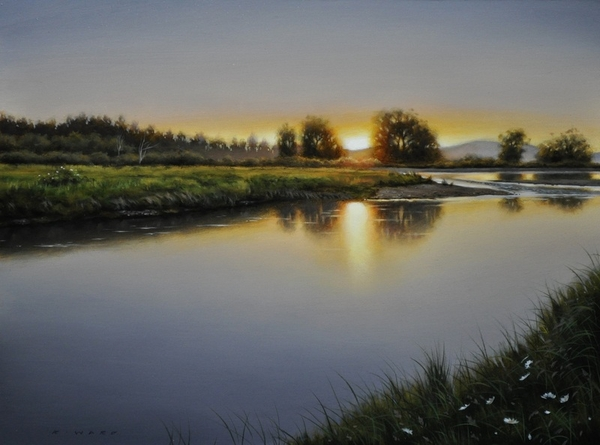 Ray Ward Dusk Along The River