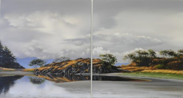Ray z Ward Storm Break, Piper's Lagoon (Diptych)