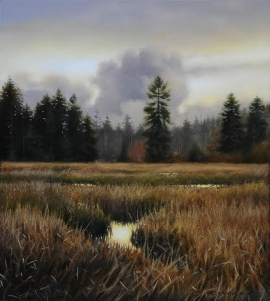 Ray z Ward Tidal Marsh in Autumn Light