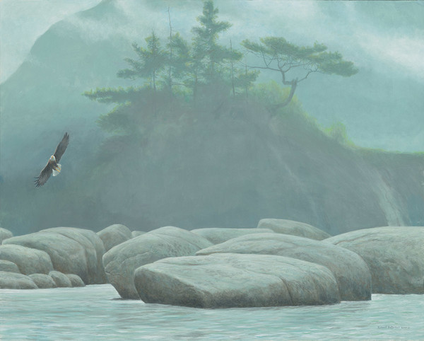 Robert z Bateman Inside Passage – Bald Eagle