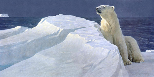 Robert z Bateman Long Light Polar Bear