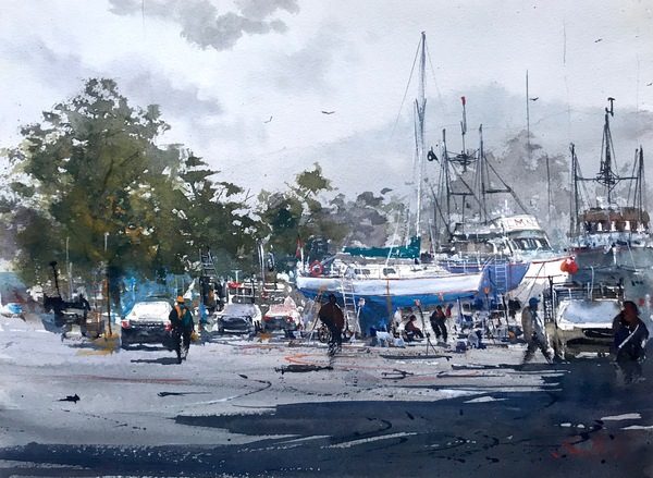 Ship Yard, Sooke Road II by Sandhu Singh