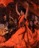 Clement Kwan Flamenco Dancers in Red