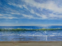 Janice Robertson Surf and Sky I
